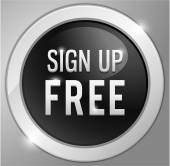 Sign up free button, sign — Vector de stock