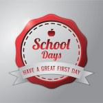 SCHOOL DAYS RED BADGE — Stock Vector #80006958