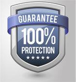 Guaranteed protection shield. — Stock Vector