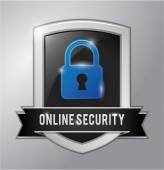 Online security shield — Stock Vector