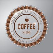 Coffee badge ; coffee store — Stock Vector