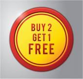 Buy 2 get 1 free — Stock Vector