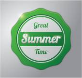 Great summer time badge — Stock Vector