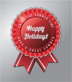 Happy holidays Summer badge — Stock Vector