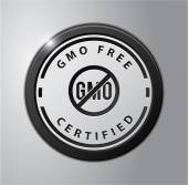 GMO free badge — Stock Vector
