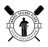 Ocean exploration : Sailor badge — Stock Vector