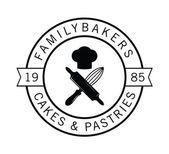 Family bakers : Bakery label badge — Stock Vector