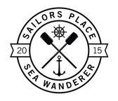 Sailor place - Sea wanderer - Nautical label badge — Stock Vector