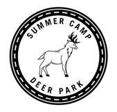 Summer camp deer park hunter badge — Stock Vector