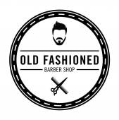 Barber shop Old fashioned badge — Stock Vector