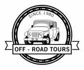 Automobile adventure badge — Stock Vector