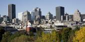 Montreal, Quebec, Canada, skyline on a beautiful Fall day — Стоковое фото