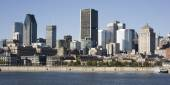 Montreal, Quebec, Canada, skyline on a beautiful Fall day — Stock fotografie