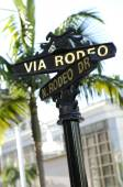 Via Rodeo,N.Rodeo Drive street sign — Stock Photo