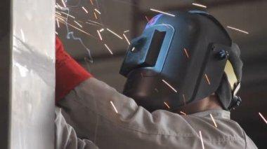 Metal welding — Stock Video