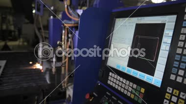 Machine Plasma Cutting Machine CNC — Stock Video