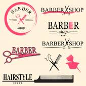 Barber logo — Stock Vector