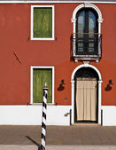 Orange Burano facade — Stock Photo