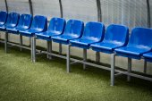 Bench soccer team — 图库照片