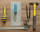 Various tools for tiling — Stock Photo