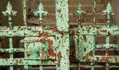 Rostige Jahrgang Zaun — Stockfoto