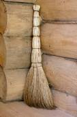 Broom in a corner — Stock Photo
