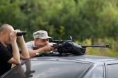 Zeroing of a rifle — Stock Photo