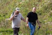 Two men at the shooting range — Stock Photo