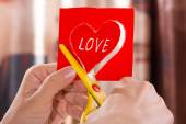 Paper heart for Valentine's day — Stock Photo