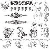 Calligraphic decorative elements. Set of design elements. — Stock Vector