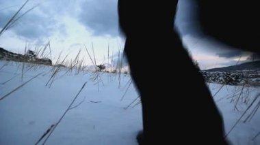 Zima biegania — Wideo stockowe