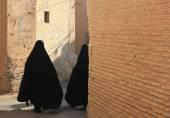Iranian women on the street — Stock Photo