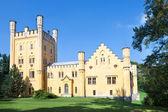 Neo-Gothic castle in Nectiny, Karlovy Vary region, West Bohemia, Czech Republic, Europe — Stock Photo