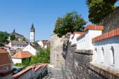 St. Stephen's cathedral, town fortification, Litomerice, Bohemia region, Czech republic, Europe — Stock Photo