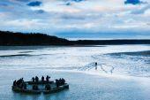 Fish Harvest On Svet Pond In Trebon — Stock Photo