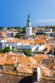 Trebic (jewish town and st. Procopius basilica), protected by UNESCO, Moravia, Czech republic — Stock Photo