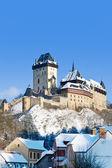 Gothic castle Karlstejn near Prague, Czech republic — Stock Photo