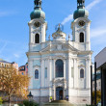 Постер, плакат: Baroque St Mary Magdalene church spa town Karlovy Vary Czech