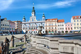 Main square and town hall, Ceske Budejovice, Czech republic — Stockfoto