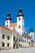 Telc town, Vysocina region, Czech republic — Stock Photo