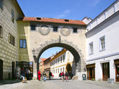 Medieval town Cesky Krumlov (UNESCO), South Bohemia, Czech repub — Stock Photo