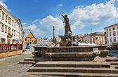 Neptune fountain, Olomouc, Czech republic — Fotografia Stock