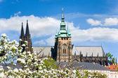 Prague castle and Lesser town, Prague (UNESCO), Czech republic — Stock Photo