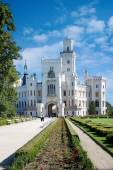 Castle and gardens Hluboka, South Bohemia, Czech republic — Stock Photo