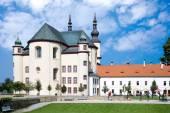 Cloister gardens (UNESCO), Litomysl, Czech republic — Stock Photo