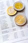 Euro money in office — Stock Photo