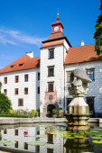 Castle, Trebon, South Bohemia, Czech republic — Stock Photo