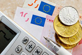 Euro and Czech crown money — Stock Photo