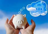 Piggy bank with dream — Stock Photo