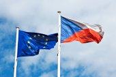 EU and Czech flag — Stock Photo